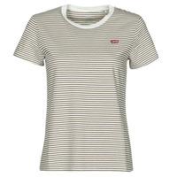 textil Dame T-shirts m. korte ærmer Levi's PERFECT TEE Beige