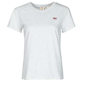 textil Dame T-shirts m. korte ærmer Levi's PERFECT TEE Grå