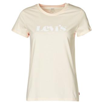 textil Dame T-shirts m. korte ærmer Levi's THE PERFECT TEE Beige