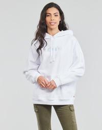 textil Dame Sweatshirts Levi's GRAPHIC RIDER HOODIE Rider / Iriserende / Logo / Hvid