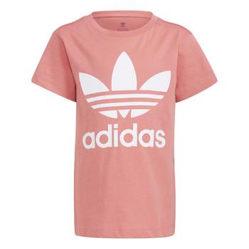 textil Børn T-shirts m. korte ærmer adidas Originals HOULILA Hvid