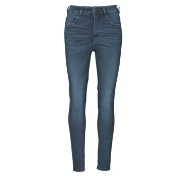 textil Dame Jeans - skinny Diesel D-SLANDY-HIGH Blå