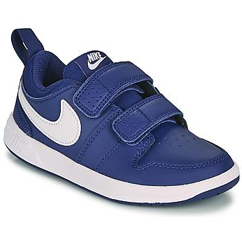 Sko Dreng Lave sneakers Nike PICO 5 PS Blå / Hvid