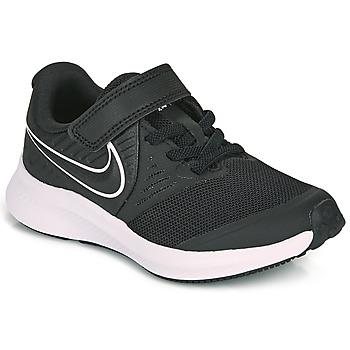 Sko Børn Multisportsko Nike STAR RUNNER 2 PS Sort / Hvid