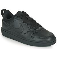 Sko Børn Lave sneakers Nike COURT BOROUGH LOW 2 GS Sort