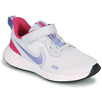 Sko Pige Multisportsko Nike REVOLUTION 5 PS Blå / Violet