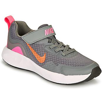 Sko Pige Multisportsko Nike WEARALLDAY PS Grå / Pink