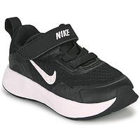 Sko Børn Multisportsko Nike WEARALLDAY TD Sort / Hvid