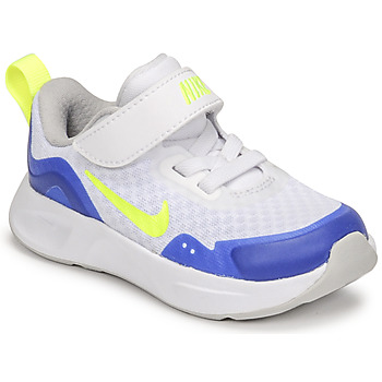 Sko Børn Multisportsko Nike NIKE WEARALLDAY Hvid / Blå / Grøn