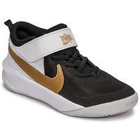 Sko Børn Multisportsko Nike NIKE TEAM HUSTLE D 10 Hvid / Sort / Guld