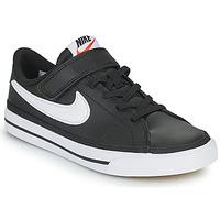 Sko Børn Lave sneakers Nike NIKE COURT LEGACY Sort / Hvid