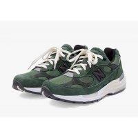 Sko Lave sneakers New Balance JJJJound x New Balence 992 Green Green - Grey