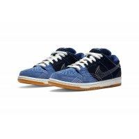 Sko Lave sneakers Nike SB Dunk Low  Sashiko Mystic Navy/Mystic Navy-Gum Light Brown-Sail