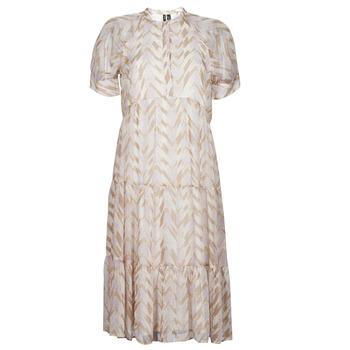 textil Dame Lange kjoler Vero Moda VMKATHRINE Beige