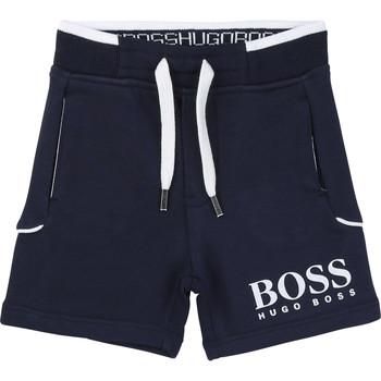 textil Dreng Shorts BOSS NOLLA Marineblå