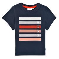 textil Dreng T-shirts m. korte ærmer BOSS FINITANA Marineblå