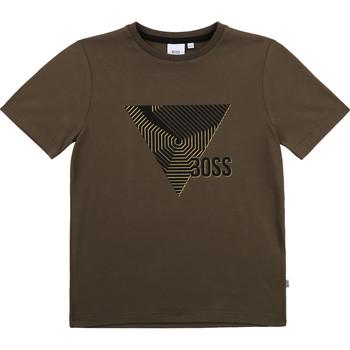 textil Dreng T-shirts m. korte ærmer BOSS SIMEO Kaki