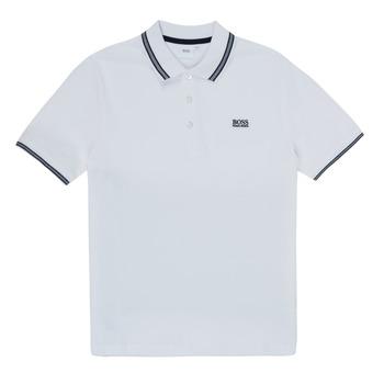 textil Dreng Polo-t-shirts m. korte ærmer BOSS TONNELA Hvid