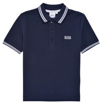 textil Dreng Polo-t-shirts m. korte ærmer BOSS TONNELA Marineblå