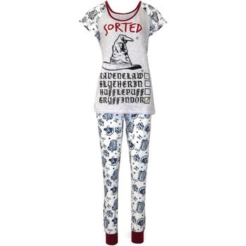 textil Dame Pyjamas / Natskjorte Harry Potter  Purple/White