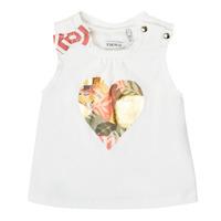 textil Pige Toppe / T-shirts uden ærmer Ikks XS10030-19 Hvid