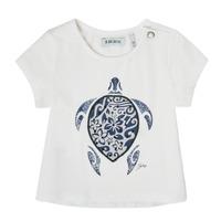 textil Pige T-shirts m. korte ærmer Ikks XS10070-19 Hvid