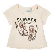 textil Pige T-shirts m. korte ærmer Ikks XS10090-11 Hvid