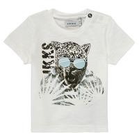 textil Dreng T-shirts m. korte ærmer Ikks XS10161-19 Hvid