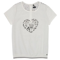 textil Pige T-shirts m. korte ærmer Ikks XS10242-19-J Hvid