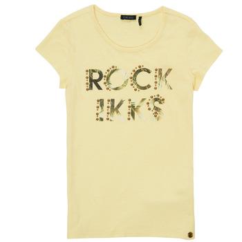 textil Pige T-shirts m. korte ærmer Ikks XS10182-73-J Gul