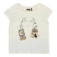 textil Pige T-shirts m. korte ærmer Ikks XS10002-11-C Hvid