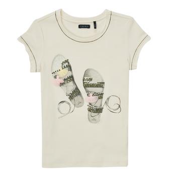 textil Pige T-shirts m. korte ærmer Ikks XS10132-11-C Hvid