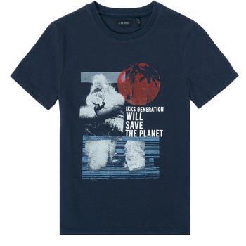 textil Dreng T-shirts m. korte ærmer Ikks XS10013-48-C Marineblå