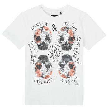 textil Dreng T-shirts m. korte ærmer Ikks XS10513-19-J Hvid