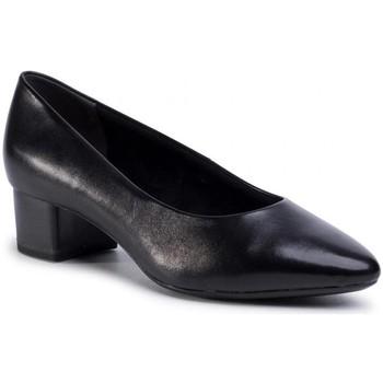 Sko Dame Højhælede sko Tamaris Black Low Heel Shoes Sort