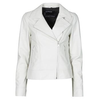 textil Dame Jakker i læder / imiteret læder Oakwood MARJORY Hvid