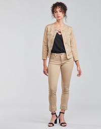 textil Dame Lærredsbukser Liu Jo IDEAL Beige