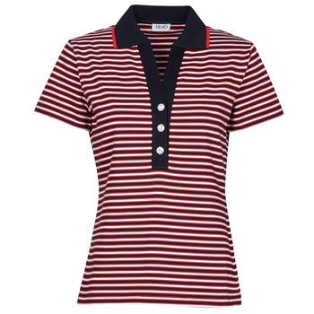 textil Dame Polo-t-shirts m. korte ærmer Liu Jo WA1142-J6183-T9701 Marineblå / Hvid / Rød