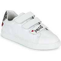 Sko Dame Lave sneakers Bons baisers de Paname EDITH SWEET HEART Hvid
