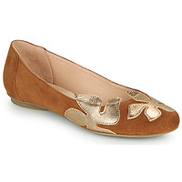 Sko Dame Ballerinaer Betty London ERUNE Kamel / Guld