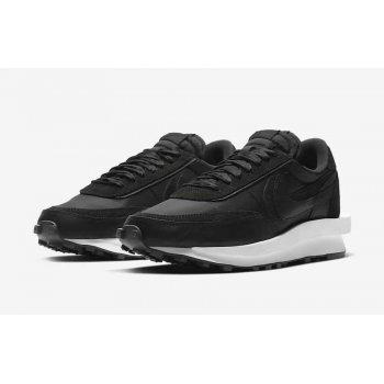 Sko Lave sneakers Nike LDWaffle Racer x Sacai White Black/Black
