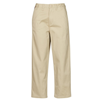 textil Dame Chinos / Gulerodsbukser Tommy Jeans TJW HIGH RISE STRAIGHT Beige