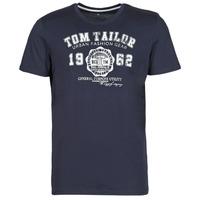 textil Herre T-shirts m. korte ærmer Tom Tailor 1008637-10690 Marineblå