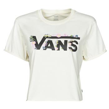 textil Dame T-shirts m. korte ærmer Vans BLOZZOM ROLL OUT Hvid