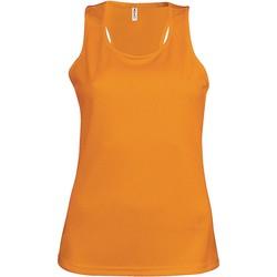 textil Dame Toppe / T-shirts uden ærmer Proact Débardeur femme  Sport orange