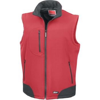 textil Veste / Cardigans Result Doudoune Sans Manche  Softshell rouge/noir