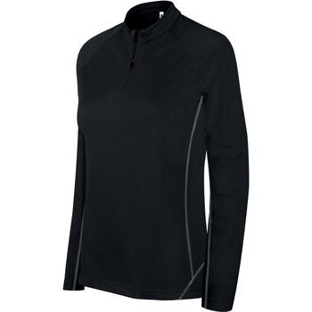 textil Dame Sportsjakker Proact Sweat femme  Running 1/4 Zip noir