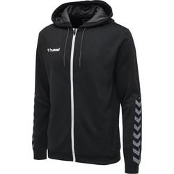 textil Herre Sweatshirts Hummel Veste  zip hmlAUTHENTIC Poly noir/blanc