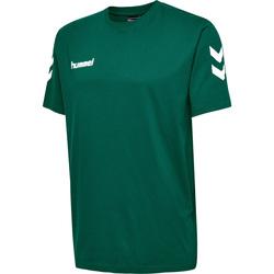 textil Børn T-shirts m. korte ærmer Hummel T-shirt enfant  hmlgo cotton vert sapin