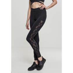 textil Dame Leggings Urban Classics Legging femme Urban Classic Ribbon noir